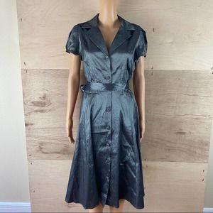 NWT Liz Claiborne Metallic Grey Dress